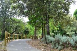 Le parc de la fondation Rollin sur le site d'Anduze